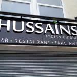 Hussians Exterior Signage