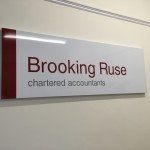 Brooking Ruse Chartered Accountants Indoor Signage